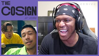 KSI Reacts To YouTube Rappers (TMG, Dax, FaZe Jarvis) | The Cosign