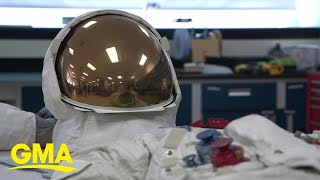 How a company went from making bras and girdles to a spacesuit fit for the moon l GMA