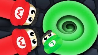 SUPER MARIO RUN IN SLITHER.IO...?!?!?! | Slither.io Modded Skin Gameplay BIGGEST Mario Skin!