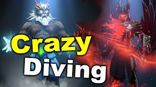 Crazy Diving NP vs E.Wolves - No Mercy! EPICENTER DOTA 2