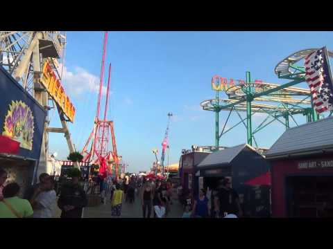 STEEL PIER, ATLANTIC CITY BOARDWALK - NJ New Jersey Shore Ocean Beach Travel Tour Guide
