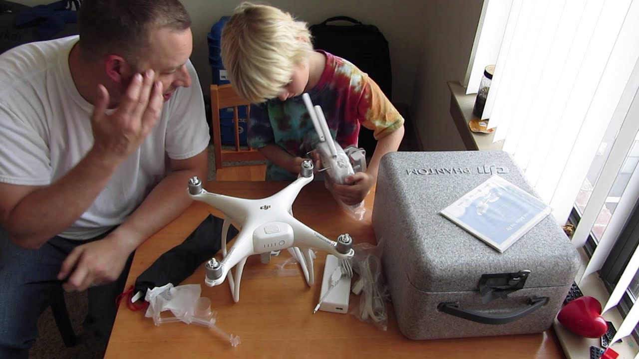 DJI Phantom 4 Unboxing By Parker The 5 Year Old Drone Reviewer