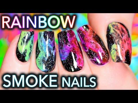 Rainbow Holo Smoke Nails | Mani-swap with Elleandish!