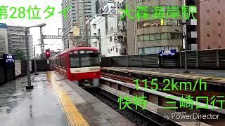 京急電鉄 超高速通過列車集89連発! (速度付、ランキング式)