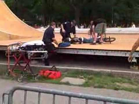 BMX Crash at Red Bull Kevin Robinson Central Park in NYC