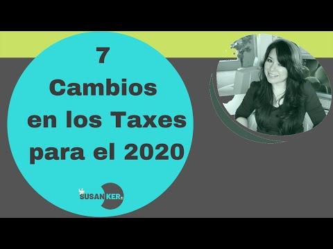 7 Cambios De Taxes Para El  2020