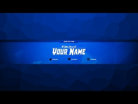 YouTube Channel Art Template | FREE