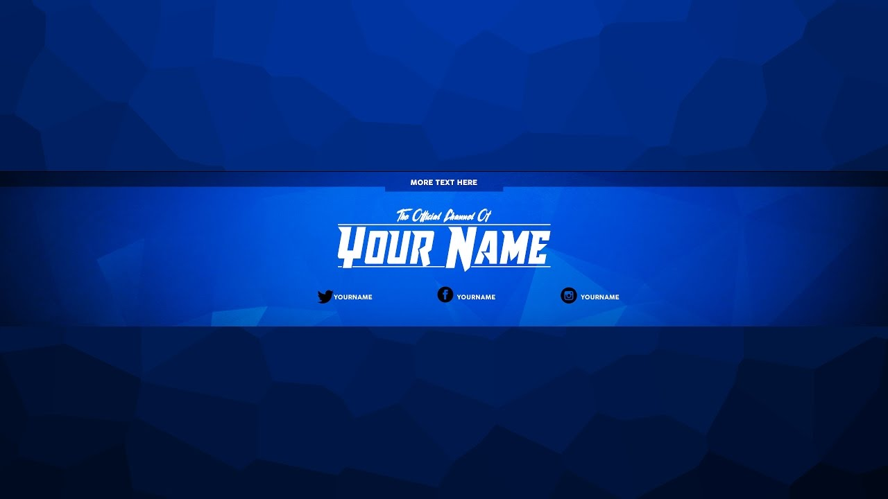 Youtube channel art template free youtube for Cool youtube channel art templates