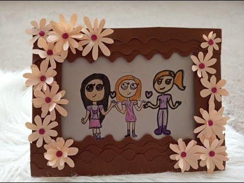 How to make DIY paper photoframe #onlypaper