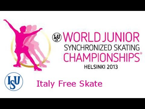 12 Team Italy (ITA) - ISU World Junior Synchronized Championsh Junior Synchronized Skating Free Skat