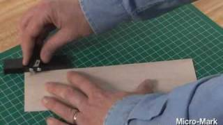 How To Make Mini Wood Planks Using Micro-mark #14568 Wood Strip Cutter