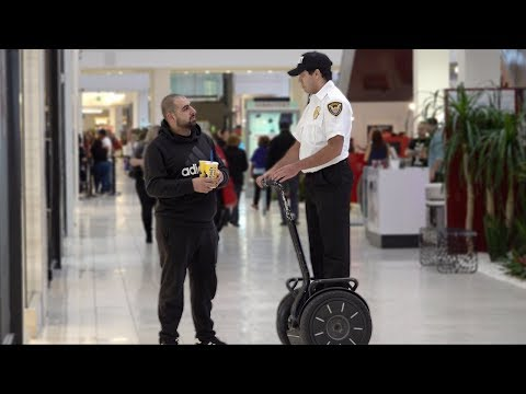 Moran - Fake Mall Cop Prank!