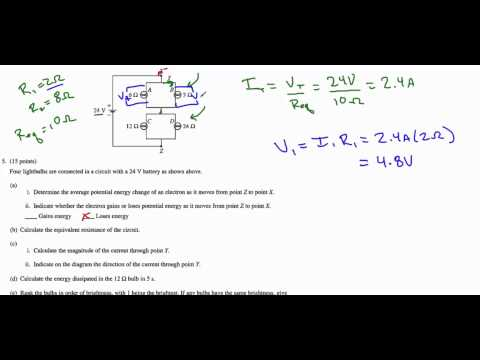 AP Physics B 2012 Question 5 - Circuits