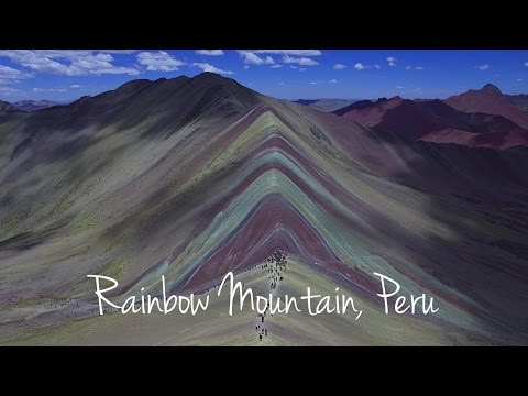 Peru: Rainbow Mountain by drone