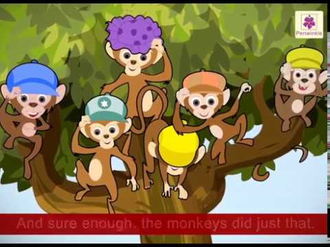 The Monkeys And The Cap Seller | English Stories For Kids | Grade 3 |  Periwinkle | Story #1