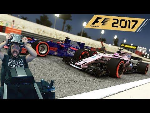 Гран-при Бахрейна F1 2017 квалификация Force India F1 - руль Fanatec ClubSport Formula Black