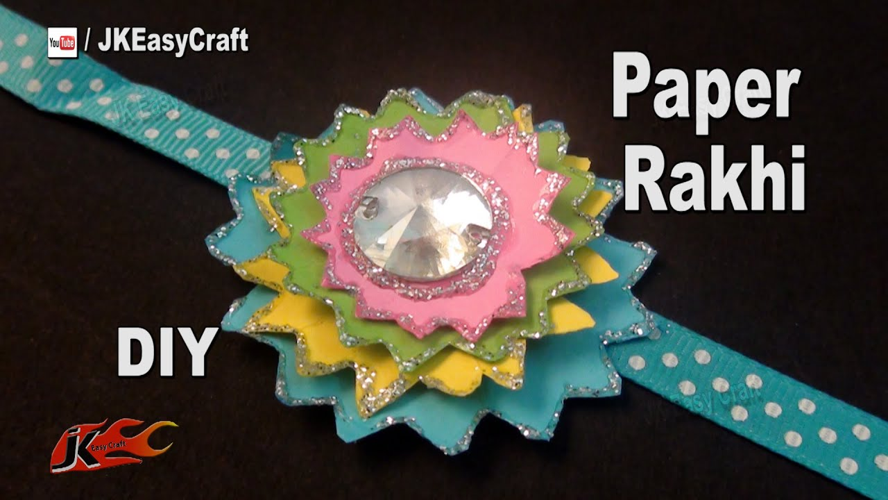 Exceptional Paper Craft Ideas For Kids Videos Part - 14: DIY Easy Paper Rakhi For Raksha Bandhan | How To Make | JK Easy Craft For  Kids 178 - YouTube