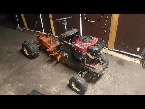 Home Built Tractor Puller from two different riding mowers BUDGET BUILD