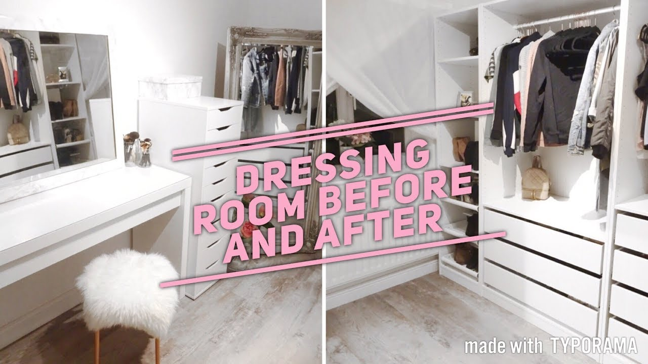 Dressing Room Makeover Before And After Tour  Walk in Wardrobe Closet   ELLIE POLLY