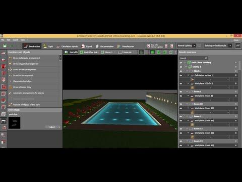 12 Dialux evo part12 - Swimming pool body creation تصميم جسم حمام السباحه علي الديلاكس ايفو