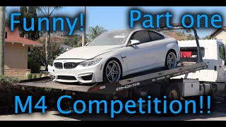 Rebuilding a Wrecked BMW 2017 M4 Competition Package!!