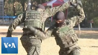 Taiwan Marines Hold Drills Before Lunar New Year