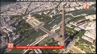 france2(JT de 20h du jeudi 16 janvier 2014) Ile-de-France : supprimer des départements ?