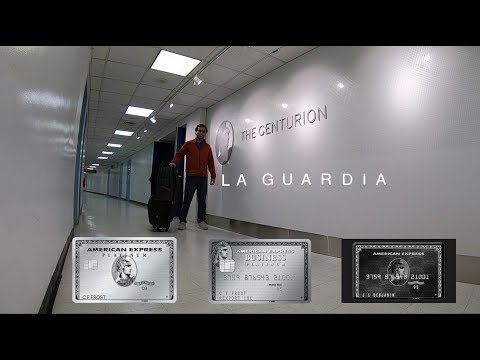 American Express Centurion Lounge Tour - La Guardia (NYC) | LIFE WITH NEIL