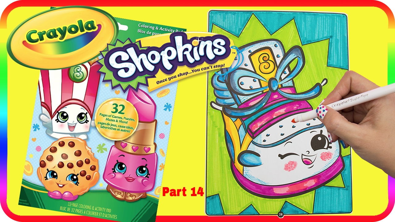 Shopkins coloring pages sneaky wedge - Part 14 Sneaky Wedge Shopkin Speed Coloring With Mommy Z Washable Crayola Marker