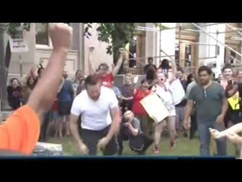 Protesters Pulls Down Confederate Statue In Durham North Carolina!