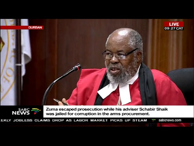 Former South African president Jacob Zuma's corruption case postponed to the 27th July 2018.