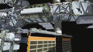 Intl Space Station crewmembers conduct spacewalk