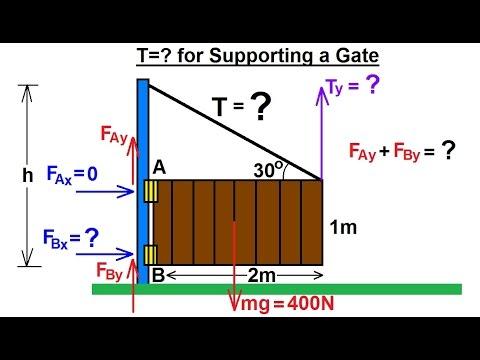 Physics Mechanics Ch 15 Torque 5 Of 27 Tension