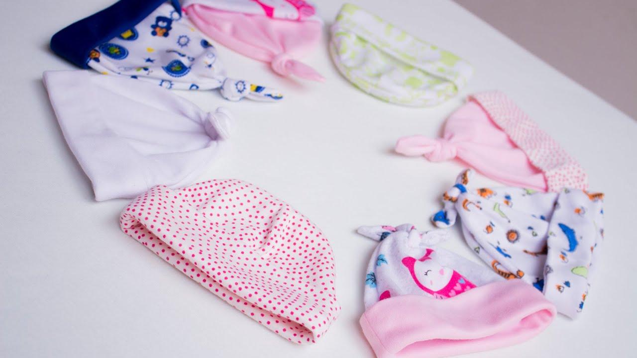 3 lindos gorros para bebé en tejido de punto con patrones gratis en 3 tallas/Idea de negocio