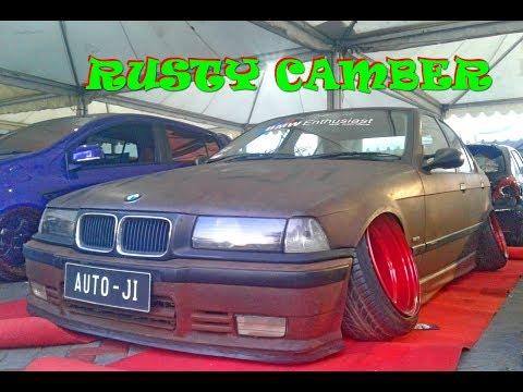 Extreme Camber Modified BMW 318i E36 Custom Rusty Car