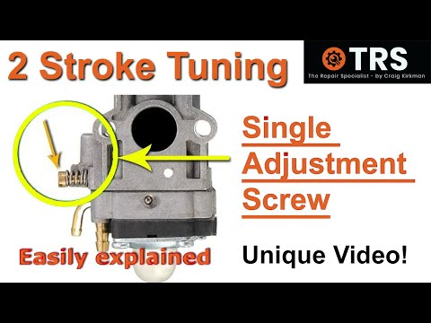 How a Two Stroke Cycle Carburetor Single Adjustment Screw Works/Tune a Strimmer Chainsaw Trimmer