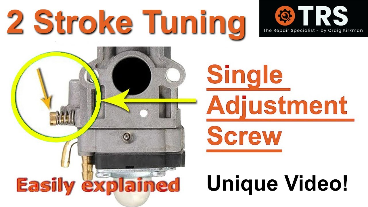 how a two stroke cycle carburetor single adjustment screw works [ 1280 x 720 Pixel ]