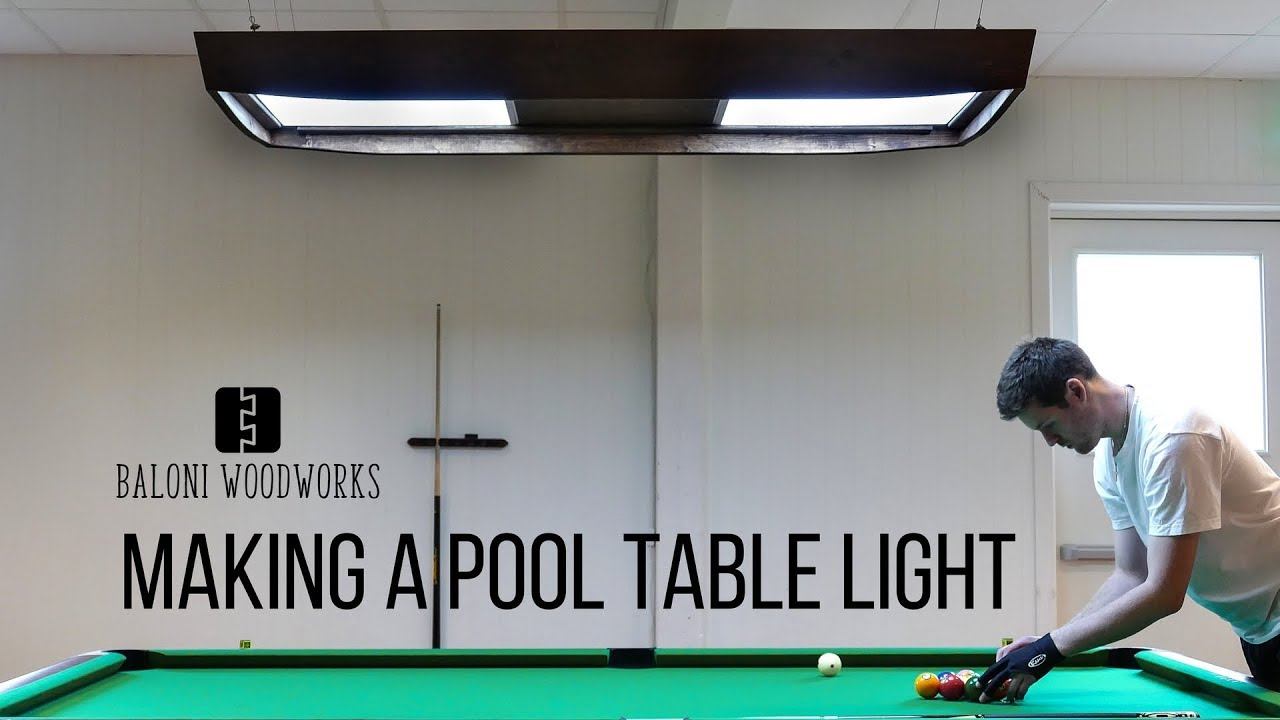 Making A Brunswick Style Pool Table Light Youtube