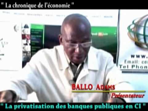 La privatisation des banques publiques en Cote d'Ivoire