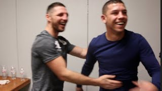 WHERE'S THE BEERS? - RYAN KIELCZWESKI OFFERS TO HAVE A DRINK WITH TOMMY COYLE AFTER THEIR WAR