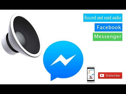Facebook Messenger || How To Record Audio On Facebook Messenger