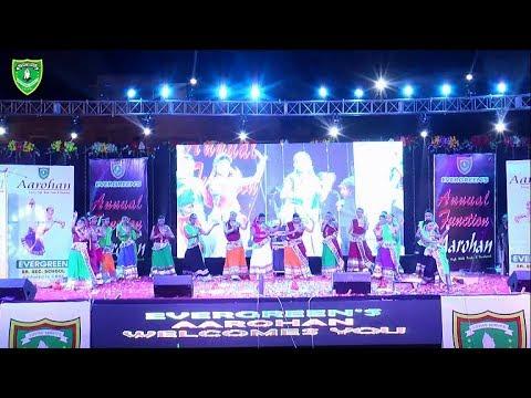 Rajasthani Folk Dance Ghoomar | Aarohan | Evergreen public school