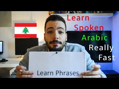 How to LEARN Lebanese REALLY Fast