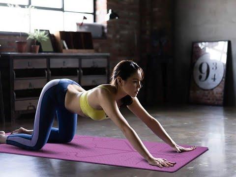 Коврик для йоги с рисунком TPE 6мм