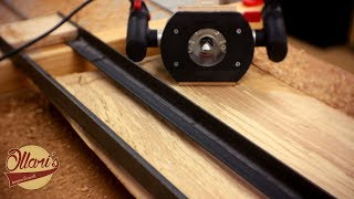 Probably the Easiest Router Sled out there ( Flattening a Live Edge Slab without a Planer)