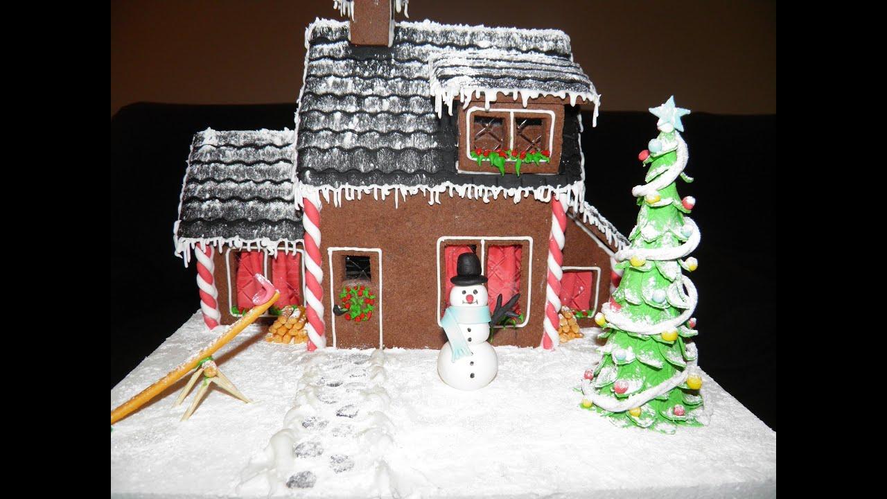 Casita de navidad de galletas y fondant youtube - Manualidades en casa ...