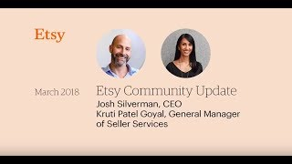 Etsy's CEO Josh Silverman on Accelerating Sales: A Community Update