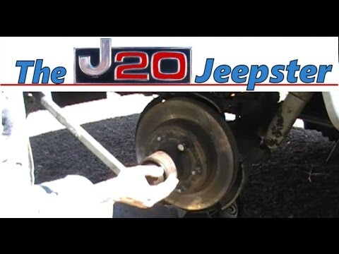 Jeepster putting back on the steering knuckle, spindle and rotor on a 90 1500 Suburban