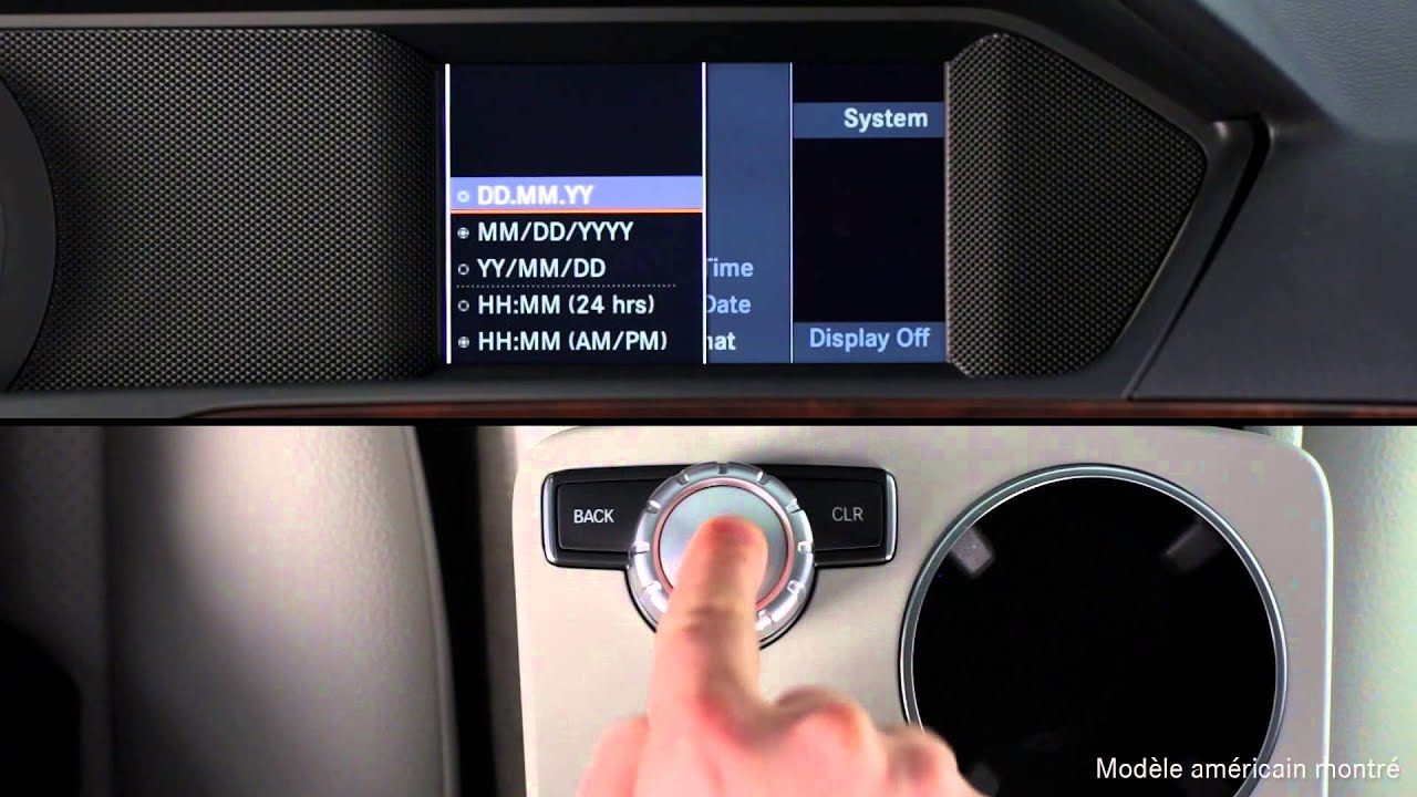 Comment Faire Reglages De L Horloge Audio 20 Mercedes Benz