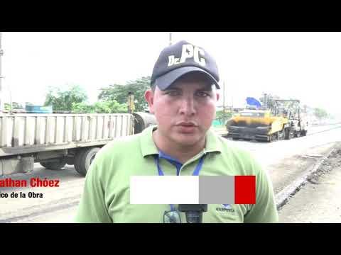 Microinformativo Yo Soy de Chone - Colocación de asfalto segundo tramo Av. Eloy Alfaro